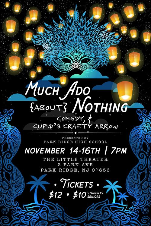 PRHS Much Ado About Nothing Fall Drama 9/14-9/16@7pm